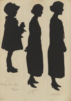 Audrey Carol Jones; W. E. Jones; E. Cordle, by Hubert Leslie - NPG D46626