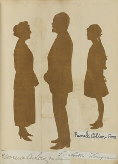 'Mr and Mrs Longman's Golden Wedding, April 28 1924' (Thomas Norton Longman; Florence A. Longman (née Pratt-Barlow); Pamela Colton-Fox), by Hubert Leslie - NPG D46639