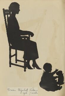 Rosea Elizabeth Vickers and an unknown woman, by Hubert Leslie - NPG D46658