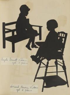 Angela Nannette Hope (née Vickers); Leonard Henry Vickers, by Hubert Leslie - NPG D46661