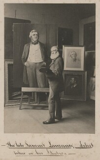 Samuel Laurence with portraits of William Makepeace Thackeray, by John Chester Jervis - NPG x196202