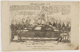 The king in council assembled; or an unanimous ministry, by Charles Jameson Grant, printed and published by  G. Drake - NPG D46369