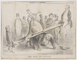 The political see-saw!, by, printed by and published by Henry Heath - NPG D46373