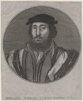 Jean de Dinteville, by Wenceslaus Hollar, after  Hans Holbein the Younger - NPG D45772