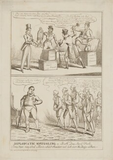 Diplomatic smuggling or birth day April fools, by William Heath, published by  Samuel William Fores - NPG D46375