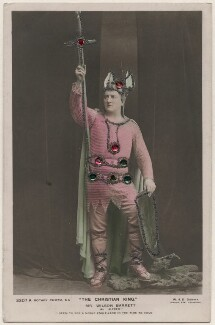 Wilson Barrett (William Henry Barrett) as Alfred in 'The Christian King', by W. & D. Downey, published by  Rotary Photographic Co Ltd - NPG x196348