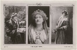 Ellen Terry; Ellen Terry as Volumnia in 'Coriolanus'; Ellen Terry as Alice Grey in 'Alice Sit-by-the-Fire', published by Rotary Photographic Co Ltd, after  Window & Grove, and  Unknown photographer, published circa 1905 - NPG  - © National Portrait Gallery, London