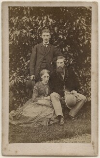 James Grant; Jane Dickson Ballantyne (née Grant); Robert Michael Ballantyne, by Unknown photographer - NPG x196208