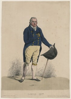 Louis XVIII, King of France, by Denis Dighton, published by  Thomas Palser - NPG D47058