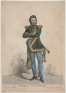 Ferdinand von Wintzingerode ('General Witzengerard'), by Denis Dighton, published by  Thomas Palser - NPG D47062
