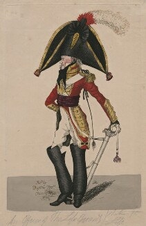 An Officer of the Life Guards, taken from life, by Robert Dighton Jr - NPG D47067