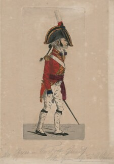 An Officer of the Foot Guards, taken from life at the Palace, by Robert Dighton Jr - NPG D47069