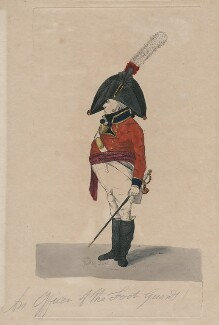 An Officer of the Foot Guards, by Robert Dighton Jr - NPG D47070