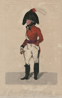 An Officer of the Foot Guards, from life on the Parade, by Robert Dighton Jr - NPG D47071