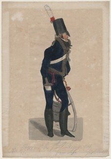 An Officer of the 7th Lt Dragoons from life, by Robert Dighton Jr - NPG D47073