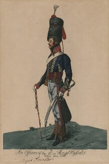 Francis Forrester ('An officer of the 15th, or Kings Hussars. Taken from life'), by Robert Dighton Jr - NPG D47077