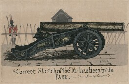 A Correct Sketch of the Turkish Piece in the Park, by Robert Dighton Jr - NPG D47078