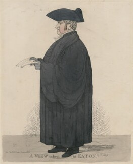 John Keate ('A View taken at Eaton'), by Richard Dighton, reissued by  Thomas McLean - NPG D47086