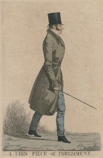 Henry Beauchamp Lygon, 4th Earl Beauchamp ('A thin piece of Parliament'), by and published by Richard Dighton, reissued by  Thomas McLean - NPG D47100