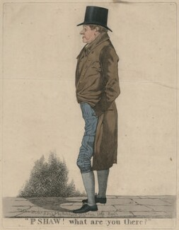Mr Shaw 'Pshaw! What are you there?', by and published by Richard Dighton - NPG D47106