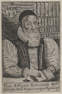 Joseph Hall, possibly by William Faithorne, after  William Marshall - NPG D45798
