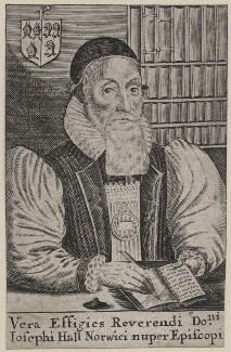 Joseph Hall, possibly by William Faithorne, after  William Marshall - NPG D45799