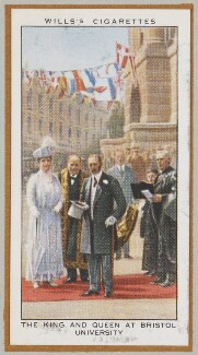 'The King and Queen at Bristol University' (Queen Mary; King George V and others), by Unknown artist - NPG D47236