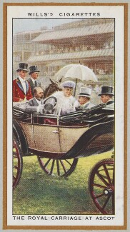 'The Royal Carriage at Ascot' ('King George V; Queen Mary and others), by Unknown artist - NPG D47237
