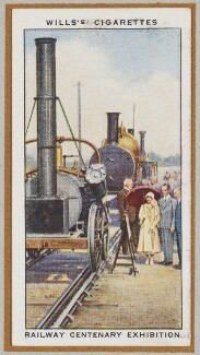 'The Railway Centenary Exhibition (Queen Elizabeth, the Queen Mother; King George VI and others), by Unknown artist - NPG D47238