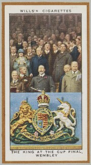 'The King at the Cup Final, Wembley', by Unknown artist - NPG D47241