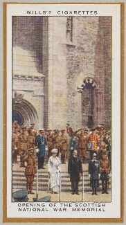 'Opening of the Scottish National War Memorial', by Unknown artist - NPG D47243