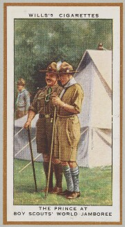 'The Prince at the Boy Scouts' World Jamboree' (Dr Victor Temesi; Prince Edward, Duke of Windsor (King Edward VIII)), by Unknown artist - NPG D47248