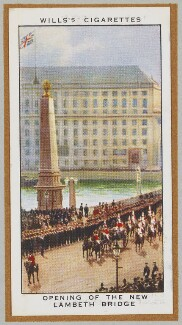 'Opening of the New Lambeth Bridge' (King George V; Queen Mary and others), by Unknown artist - NPG D47252