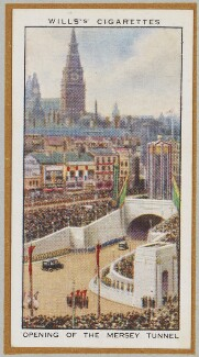'Opening of the Mersey Tunnel', by Unknown artist - NPG D47256