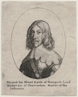 Mountjoy Blount, 1st Earl of Newport, by Wenceslaus Hollar, after  Unknown artist - NPG D45844