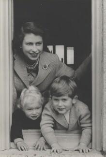 Queen Elizabeth II; Princess Anne; Prince Charles, by Studio Lisa (Lisa Sheridan) - NPG x199578