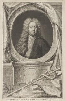 Sir William Wyndham, 3rd Bt, by Jacobus Houbraken, published by  John & Paul Knapton, after  Jonathan Richardson - NPG D47374