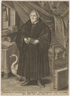Martin Luther, by François Stuerhelt, published by  Claes Jansz Visscher - NPG D47385