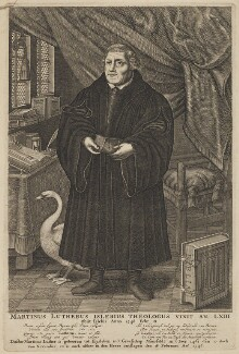 Martin Luther, published by Jan Cralinge (Craalinge, Kraalinge), after  François Stuerhelt - NPG D47386