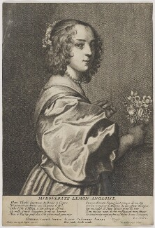 Margaret Lemon, by Wenceslaus Hollar, published by  Hendrick van der Borcht the Elder, after  Sir Anthony van Dyck - NPG D47399
