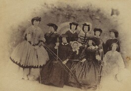 Group including Mrs Pym, Mrs Shute, Mrs Garden, Mrs Masey, Mrs Mundy and Miss Waldener, by Unknown photographer - NPG Ax196718