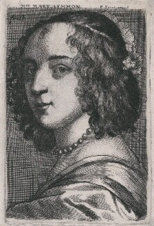 Margaret Lemon, by Richard Gaywood, published by  Peter Stent, after  Sir Anthony van Dyck - NPG D47397
