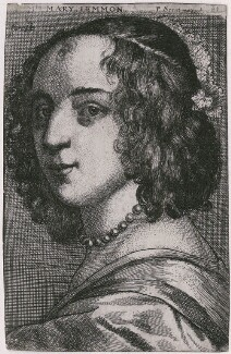 Margaret Lemon, by Richard Gaywood, published by  Peter Stent, after  Sir Anthony van Dyck - NPG D47398