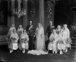 'The Wedding of 6th Earl of Harewood and Princess Mary', by Vandyk - NPG x129676