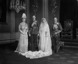 Queen Mary; Henry George Charles Lascelles, 6th Earl of Harewood; Princess Mary, Countess of Harewood; King George V, by Vandyk - NPG x130069