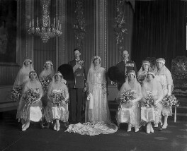 'The Wedding of 6th Earl of Harewood and Princess Mary', by Vandyk - NPG x130257