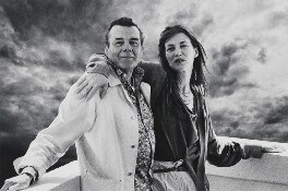 Sir Dirk Bogarde; Jane Birkin, by Piet Goethals - NPG x199407
