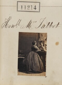 Mrs Talbot, by Camille Silvy - NPG Ax60913