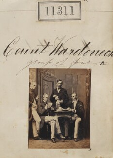 Count Wardeneck with three unknown men, by Camille Silvy - NPG Ax61006