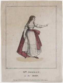 Dorothy Jordan as Priscilla Tomboy in 'The Romp', published by Elizabeth Jackson, after  Unknown artist - NPG D47415